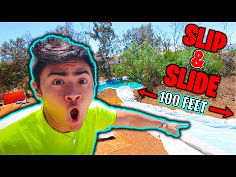 100 FOOT SLIP N SLIDE at Funk Bros!