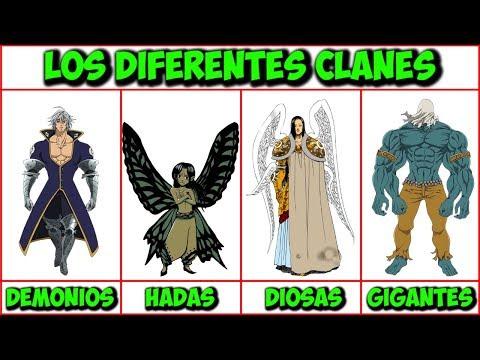 Explicación: Las diferentes razas y clanes - Nanatsu No Taizai (Imashime No Fukkatsu)