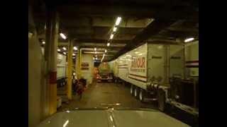 B-train Truck Disembarking Ship