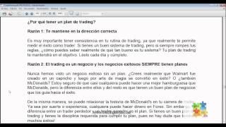 Curso de Forex - 64 de 99 - Por que tener un Plan de Trading