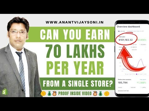 70 Lakhs Per Year From a Single Store? — Successful Shopify Dropshipping Earning - Tutorial Hindi thumbnail