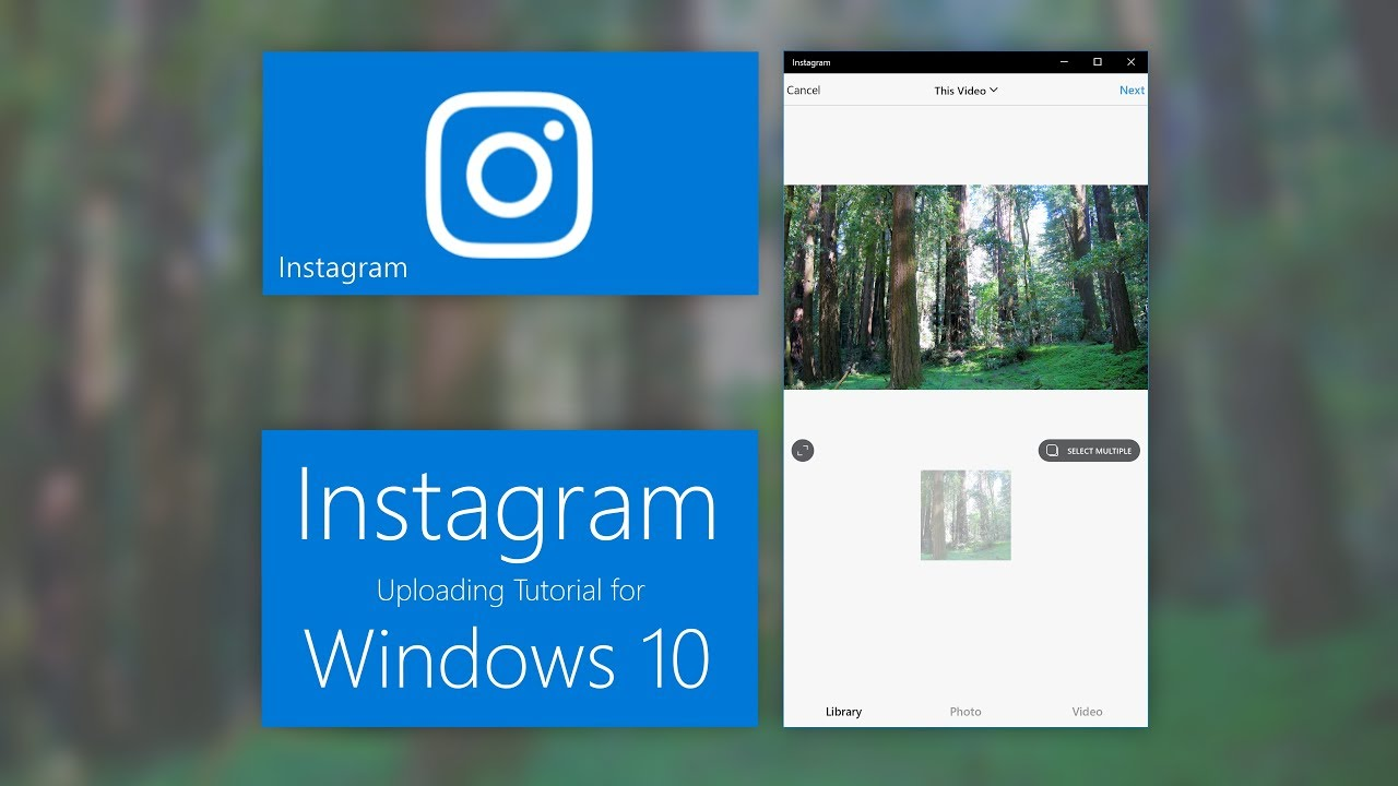 How To Upload Photos / Videos To Instagram (Windows 10)