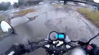 Дождливые мотобудни на Geon Aero 200