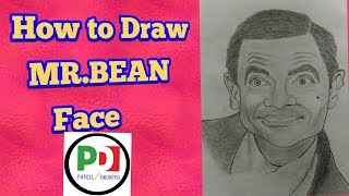 How to Draw MR.BEAN Face || Pencil Drawing ||