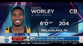 2016 NFL Draft Rd 3 Pk 77 | Panthers Select CB Daryl Worley