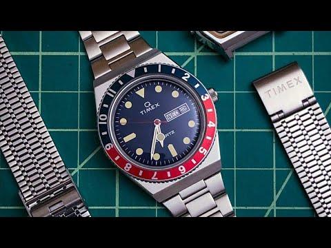 How To SHORTEN Timex Q Watch Bracelet H Link Bracelet Mod Quartz Reissue DIY Unboxing Review