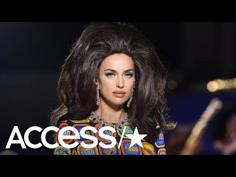 Irina Shayk Models In Milan Days Before Bradley Cooper's Big Oscars Night | Access
