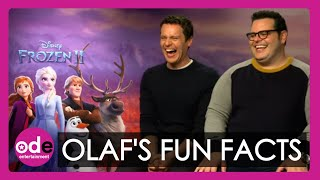 FROZEN 2: Jonathan Groff & Josh Gad on the most interesting thing we learn from Olaf!