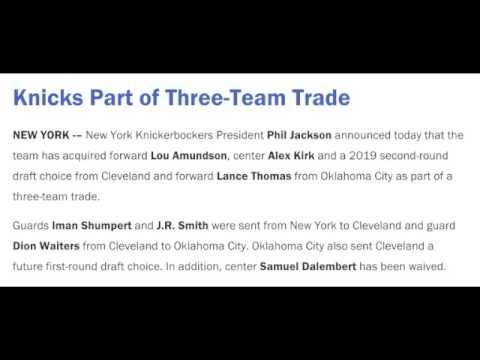 KNICKS TRADE JR SMITH AND IMAN SHUMPERT TO CAVS!