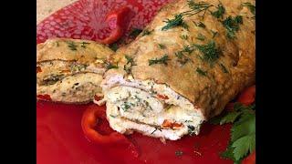 Куриный рулет 'Объедение'! Обед для всей семьи из одной куриной грудки!!!