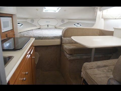 bayliner 2855 cabin cruiser interior video by south mountain yachts 949 842 2344 youtube
