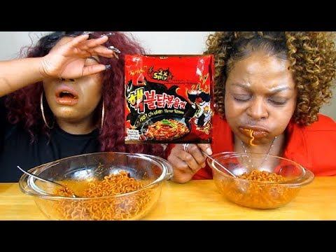 2X SPICY NUCLEAR RAMEN CHALLENGE WITH MOMMA QUTTIEQUE