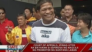 SONA: Luisito Espinosa, nagretiro sa boksing nang walang ipon