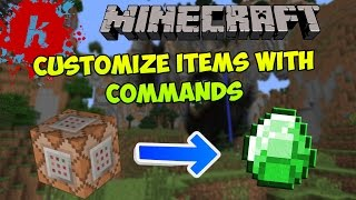 minecraft   use give command to get items with custom names lore enchantments   1 7