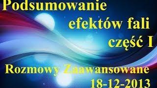 Rozmowy Zaawansowane - Podsumowanie efektów Fali, cz.1 - 18.12.2013