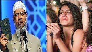 فتاة شابة طبيبة اسنان تسأل لماذا يحرم الاسلام كل شيء كالرقص والموسيقى وذاكر نايك يرد بقوه !!