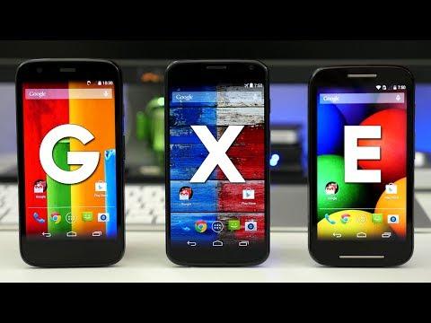 Moto E vs Moto G vs Moto X - Unboxing & Comparison