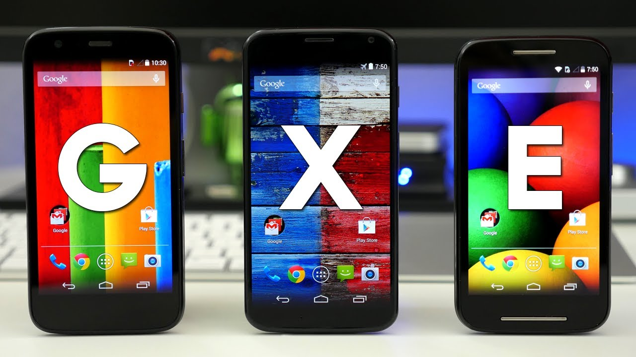 Moto E vs Moto G vs Moto X - Unboxing & Comparison - YouTube