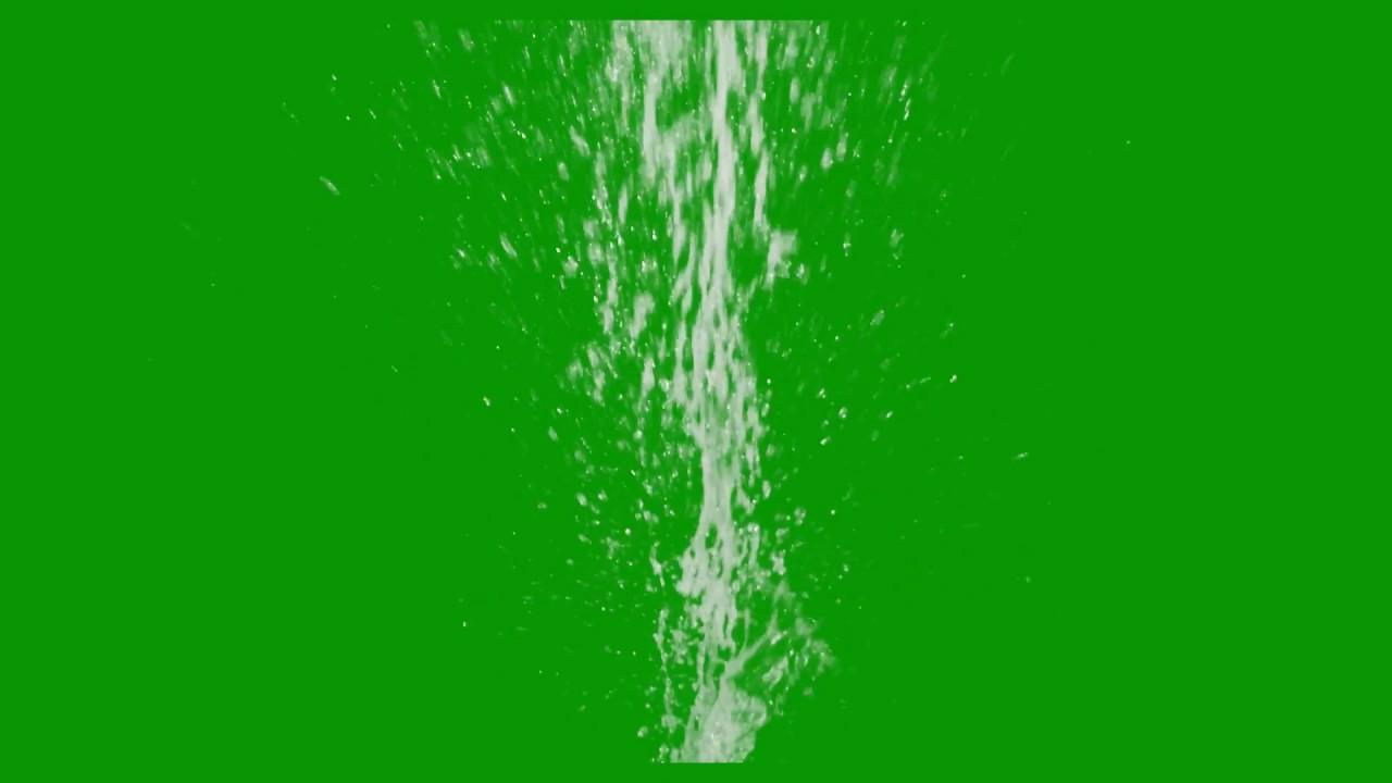 Green Screen Water Blast Particals Effects Free