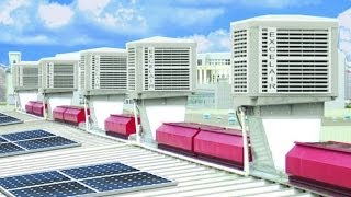 eco friendly Air Conditioner The installation of water air cooler industrial air conditioning system