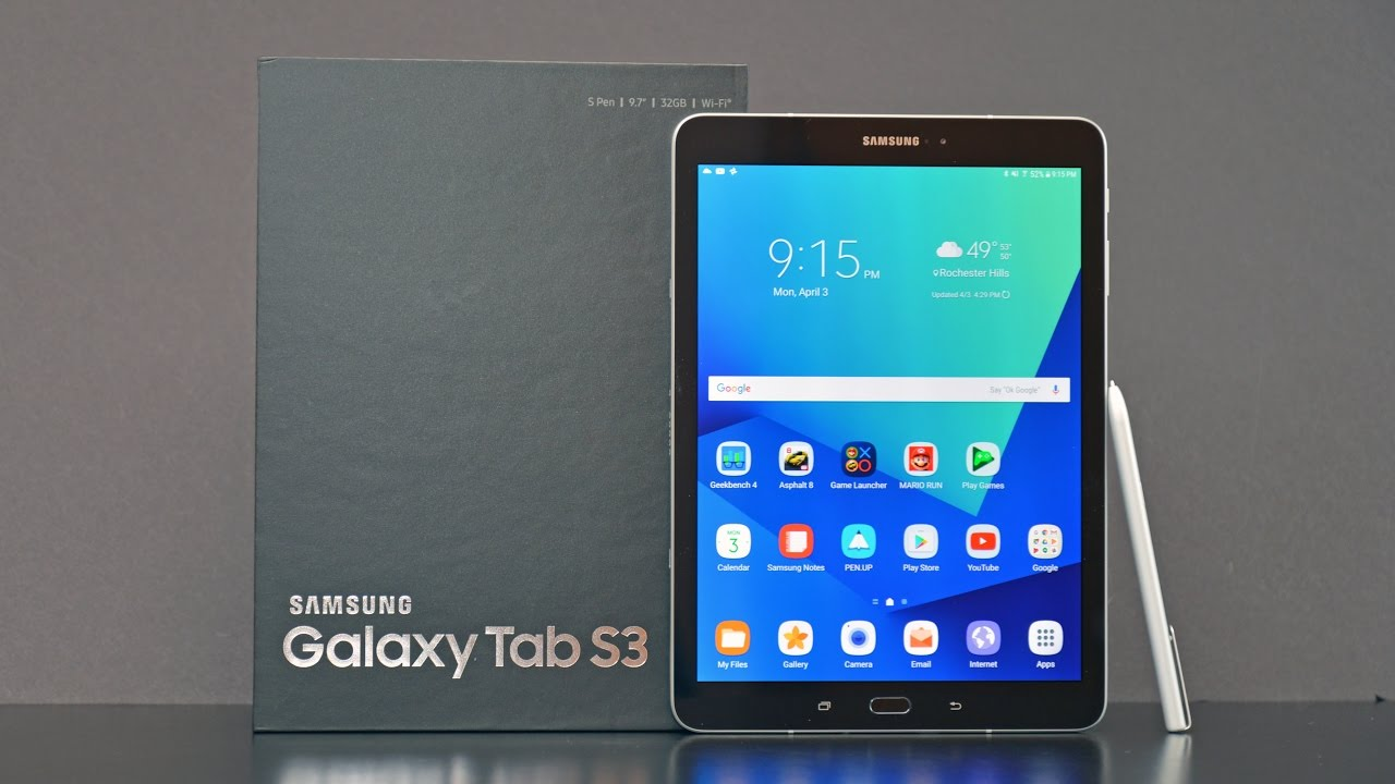 Samsung Galaxy Tab S3: Unboxing & Review - YouTube