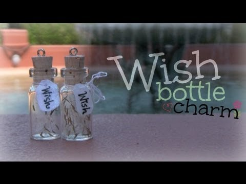 WISH BOTTLE CHARM Jewelry How To SoCraftastic YouTube