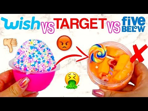 WISH SLIME VS TARGET SLIME VS FIVE BELOW SLIME! Which Is Worth It?!?