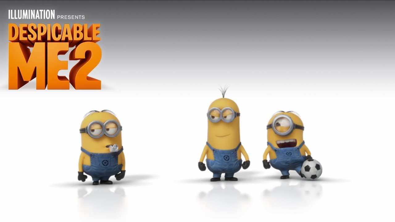 Despicable Me 2 The Minions Play Soccer Illumination Youtube
