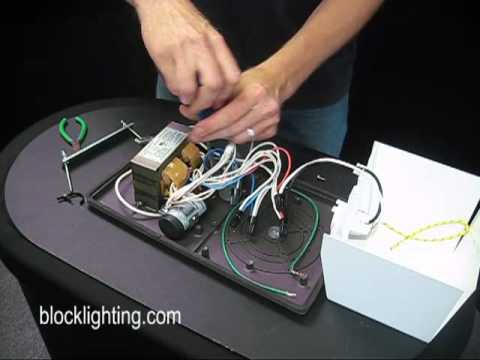 How to replace a Metal Halide Ballast  YouTube