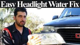 Easy and Free Rem๐val of Water From Headlight