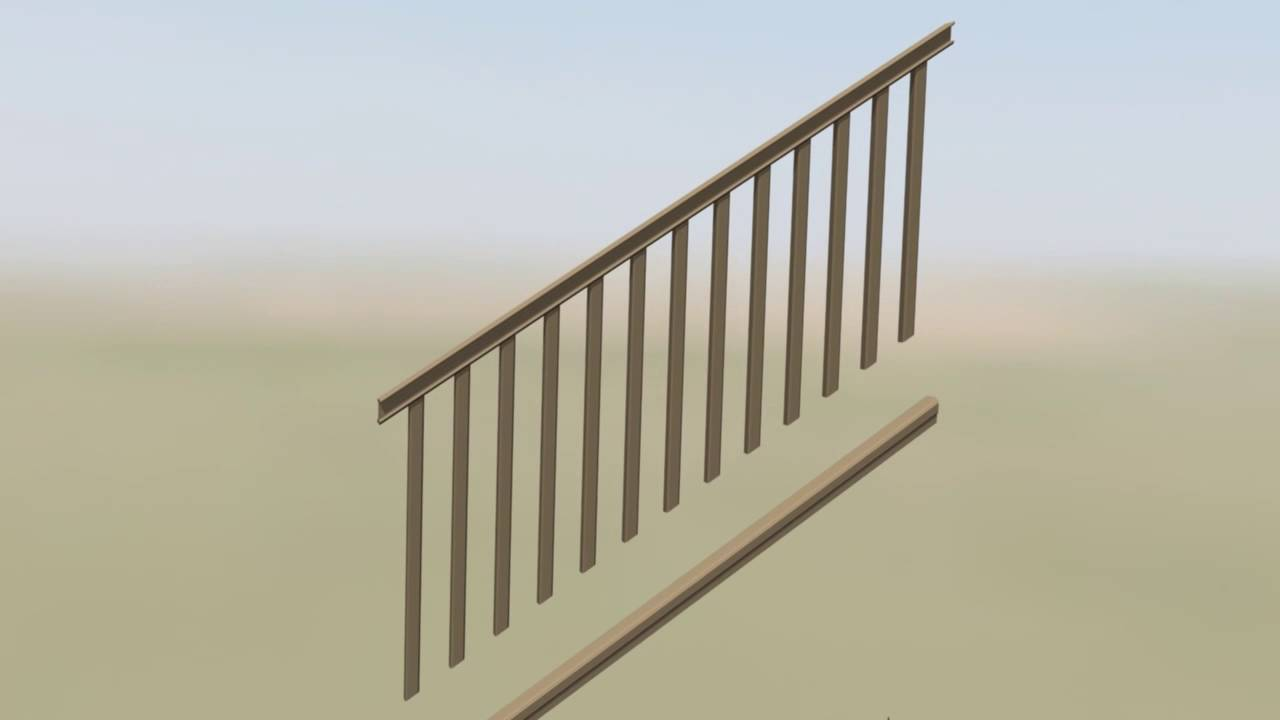 AZEK Rail: Composite U0026 Aluminum Baluster Infill Stair Installation Video    Deck Stairs Railing   YouTube