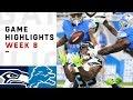 Seahawks vs. Lions Week 8 Highlights | NFL 2018