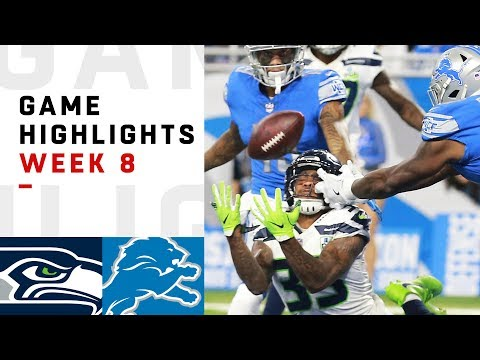 Seahawks vs. Lions Week 8 Highlights | NFL 2018