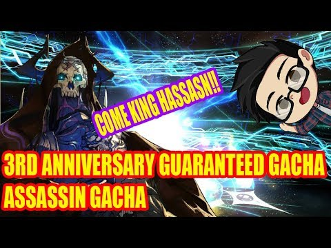 [Fate/Grand Order JP] 3rd Anniversary Guaranteed Gacha: Assassin Gacha