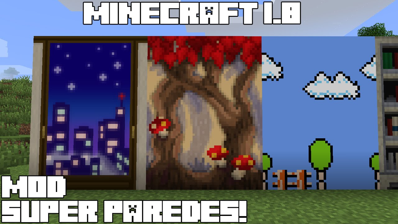 Minecraft 1 8 mod super paredes wallpaper mod espa ol for Esteban paredes wallpaper