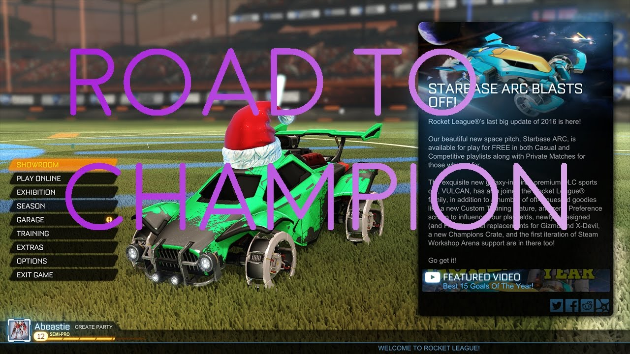 unranked to champion rocket league 1 youtube