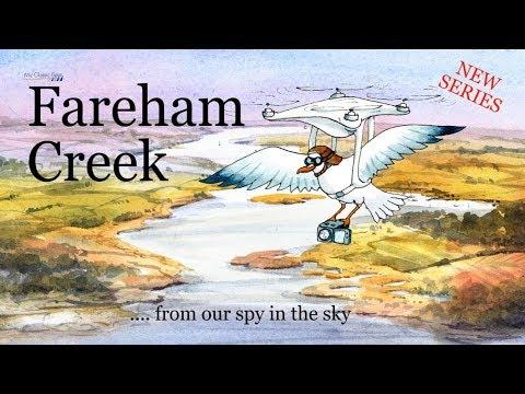 My Classic Boat. Fareham Creek By Drone