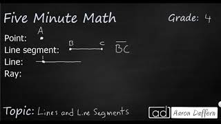 4th Grade Math Lines and Line Segments