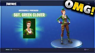 NEW FORTNITE SKINS!! SGT. GREEN CLOVER SKIN! 2018 Skins! (Fortnite Battle Royale)