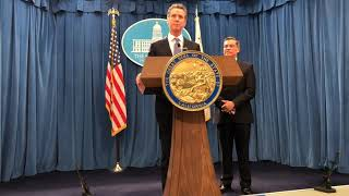 California governor Gavin Newsom responds to Trump's border emergency declaration