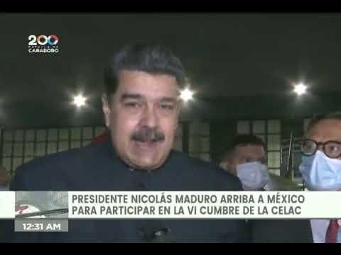 Presidente Maduro llega a México para Cumbre de CELAC, 17 septiembre 2021