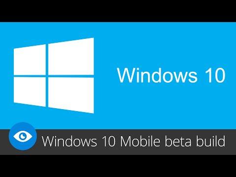 Windows 10 Mobile (beta build)