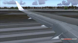 FS2004: Landing at LaGuardia Airport / New York with B757 American Airlines