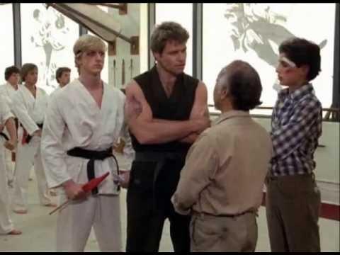 """""""The Karate Kid"""" Mr. Miyagi Confronts Sensei In Dojo"""