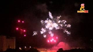 Feuerwerk zu Silvester am Ballermann