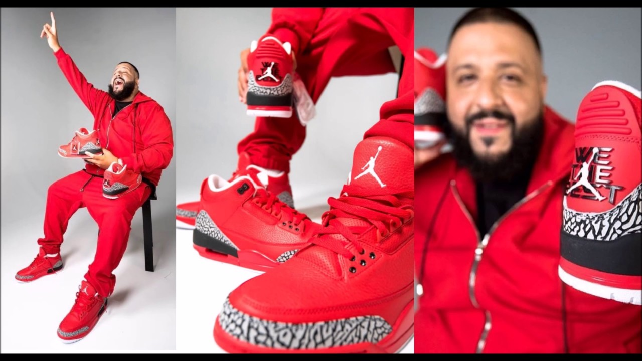hot sale online 67d2d aae3b DJ KHALED AIR JORDAN 3 GR3ATFUL WE THE BEST RETRO SNEAKER