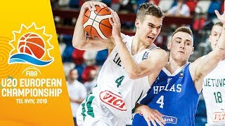Lithuania v Greece - Full Game - FIBA U20 European Championship 2019