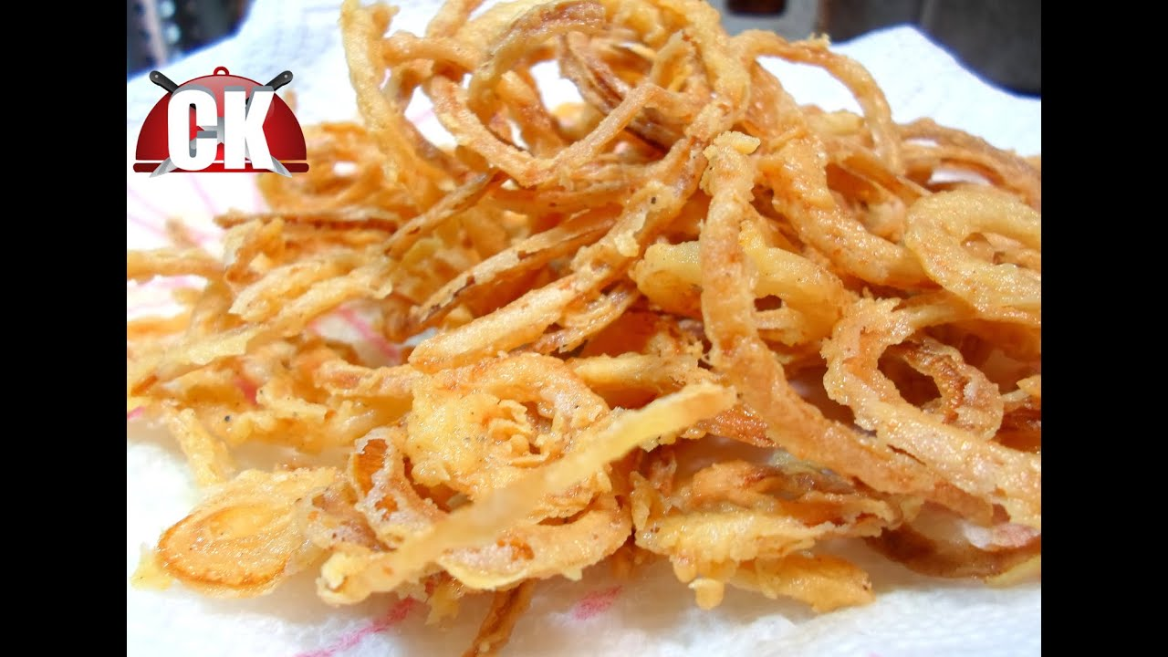 How to make Crispy Onion Rings - French Fried Onions! - YouTube