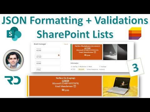 SharePoint List JSON Form Formatting & Validations (3)