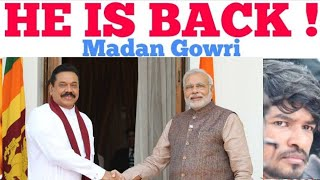 He is back | Tamil | Sri Lanka Politics Prime Minister | Madan Gowri | MG